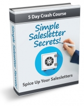 Simple Salesletter Secrets eCourse Private Label Rights