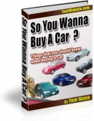 So You Wanna Buy A Car ? Private Label Rights