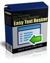 Easy Text Resizer Private Label Rights