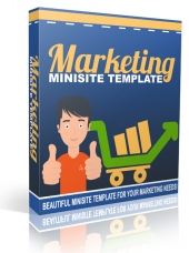 Marketing Minisite Template Private Label Rights