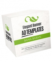 Elegant Banner Ad Templates Package Private Label Rights