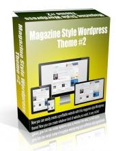 Magazine Style Wordpress Theme #2 Private Label Rights
