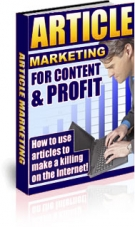 Article Marketing For Content & Profit Private Label Rights