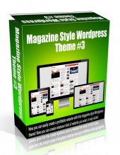 Magazine Style Wordpress Theme #3 Private Label Rights