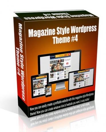 Magazine Style Wordpress Theme #4