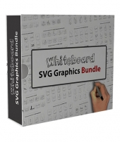 Whiteboard SVG Graphics Bundle Private Label Rights