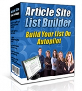 Article Site List Builder Private Label Rights