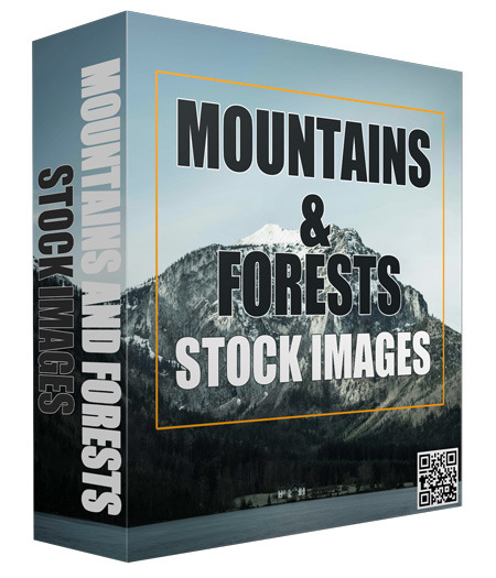 Mountains and Forests Stock Images