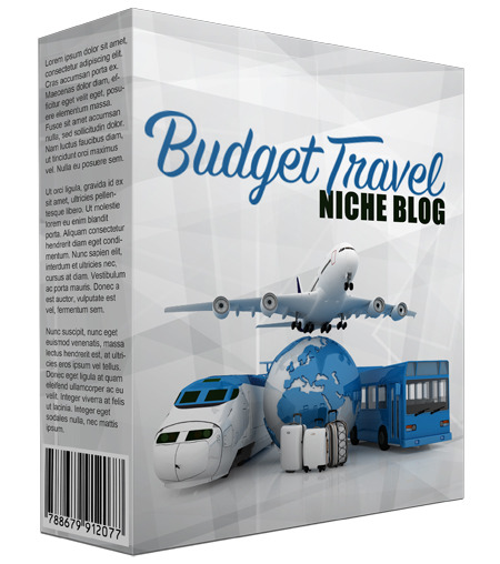 Budget Travel PLR Niche Blog V2