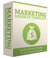 Marketing Minisite Template V32016 Private Label Rights