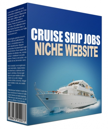 Cruise Ship Jobs Flipping Niche Site