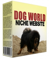 Dog World Flipping Niche Site Private Label Rights