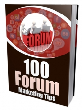 100 Forum Marketing Tips Private Label Rights